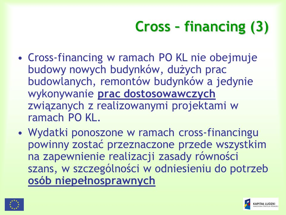 Cross – financing (3)