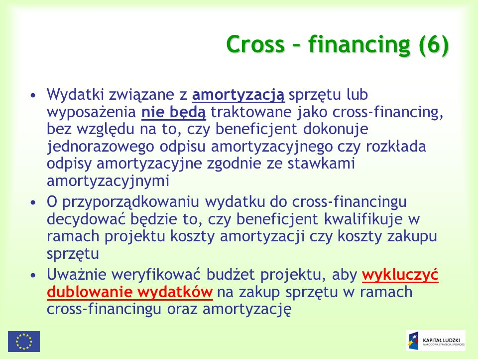 Cross – financing (6)