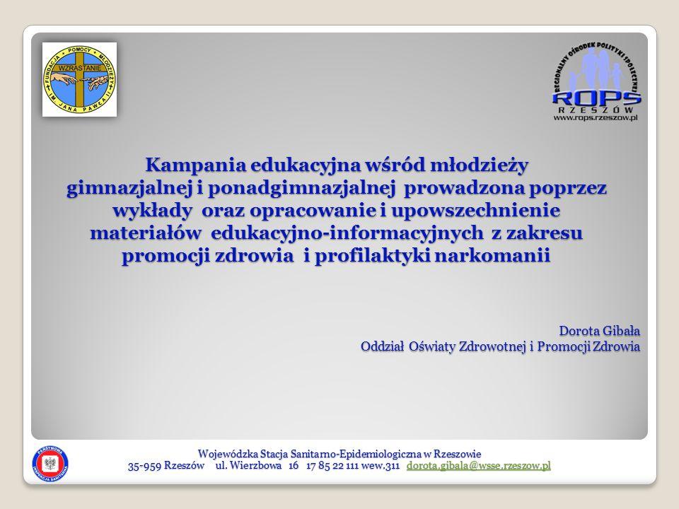 Dorota Gibała Oddział Oświaty Zdrowotnej i Promocji Zdrowia