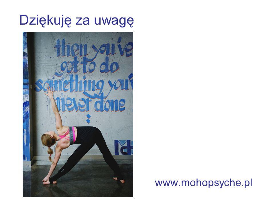Dziękuję za uwagę www.mohopsyche.pl