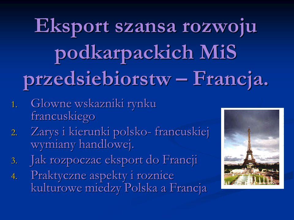 Eksport szansa rozwoju podkarpackich MiS przedsiebiorstw – Francja.
