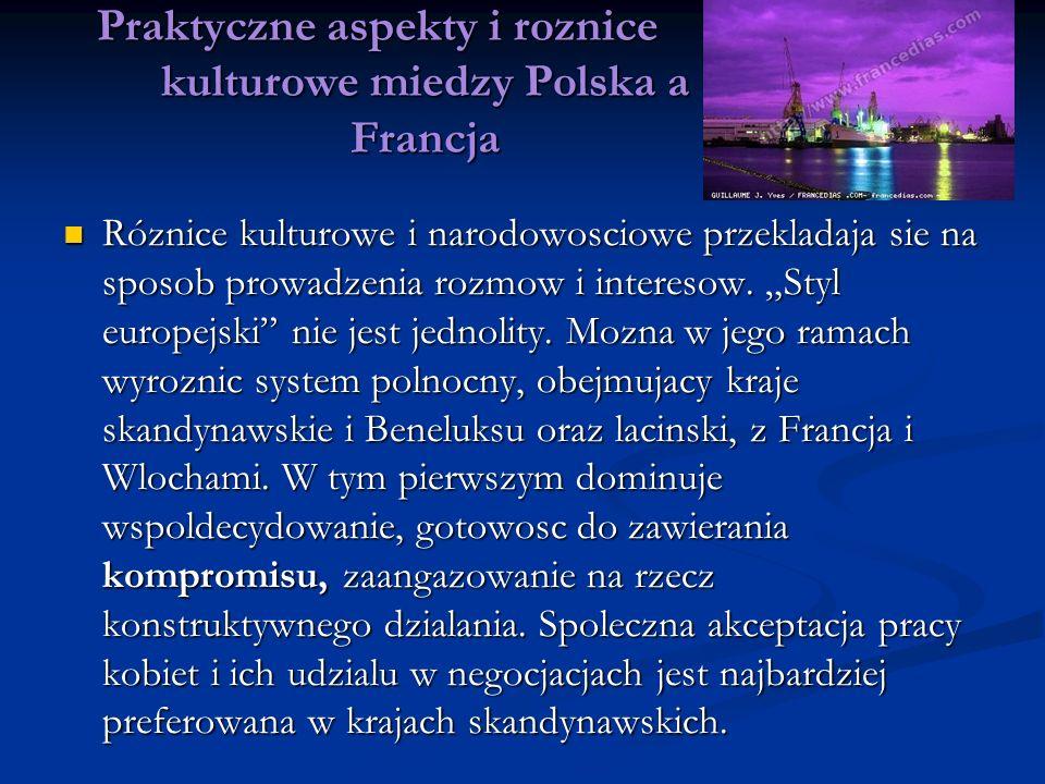 Praktyczne aspekty i roznice kulturowe miedzy Polska a Francja