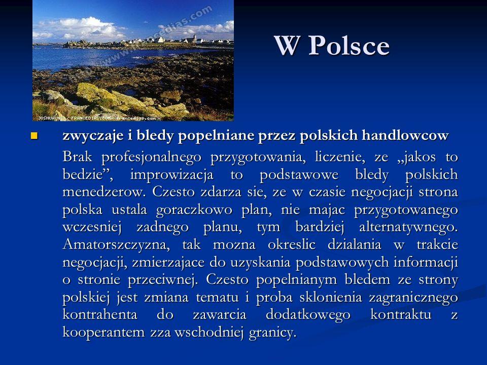 W Polsce zwyczaje i bledy popelniane przez polskich handlowcow