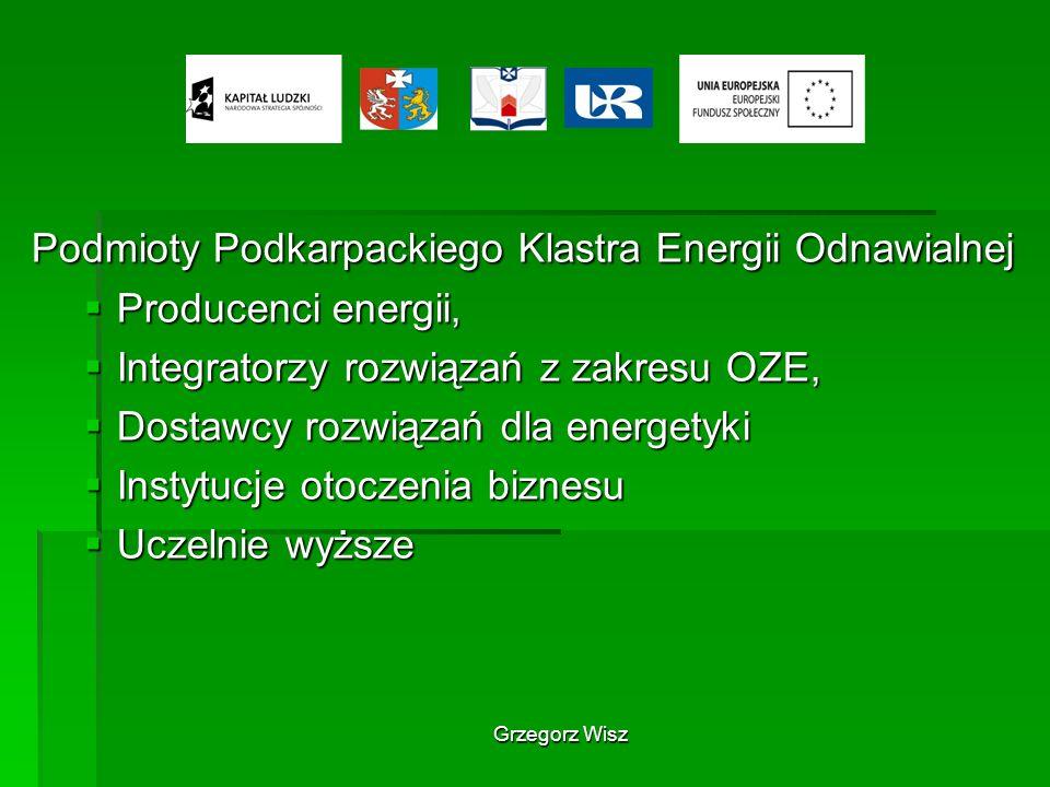 Podmioty Podkarpackiego Klastra Energii Odnawialnej