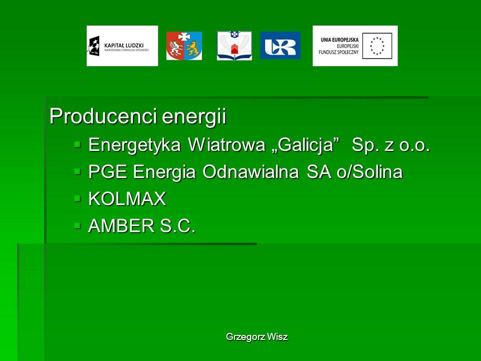 """Producenci energii Energetyka Wiatrowa """"Galicja Sp. z o.o."""