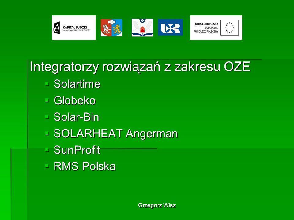 Integratorzy rozwiązań z zakresu OZE