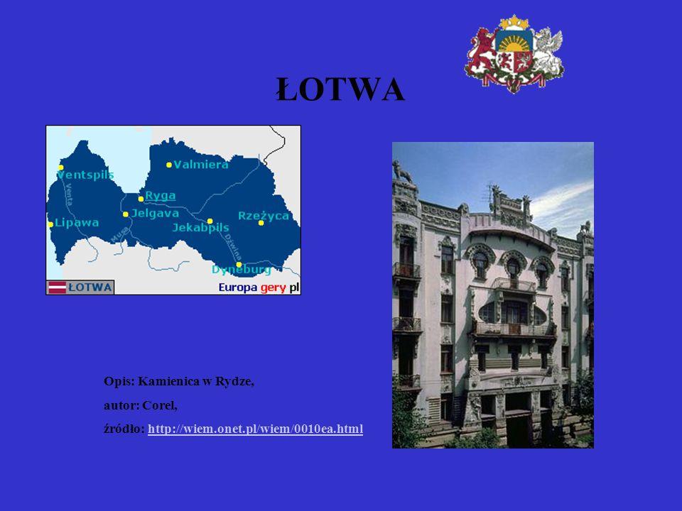 ŁOTWA Opis: Kamienica w Rydze, autor: Corel,