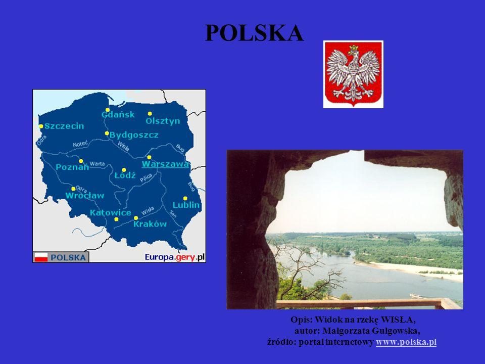 POLSKA. Opis: Widok na rzekę WISŁA,. autor: Małgorzata Gulgowska,