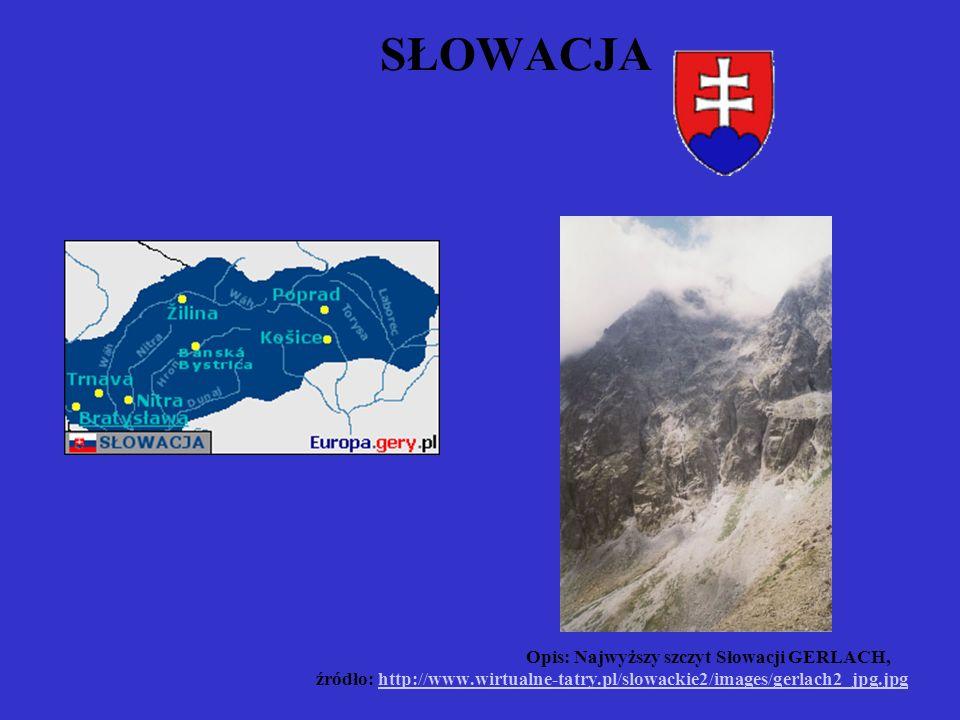 SŁOWACJA. Opis: Najwyższy szczyt Słowacji GERLACH,. źródło: http://www