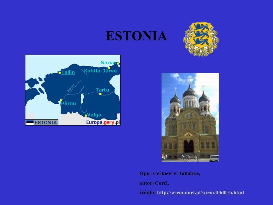 ESTONIA Opis: Cerkiew w Tallinnie, autor: Corel,