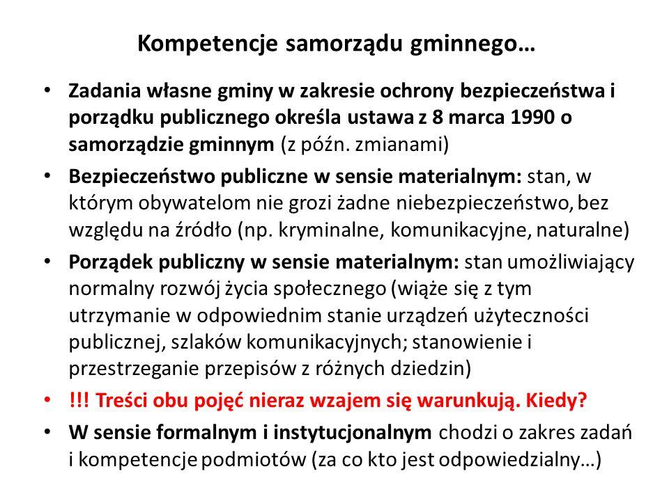 Kompetencje samorządu gminnego…
