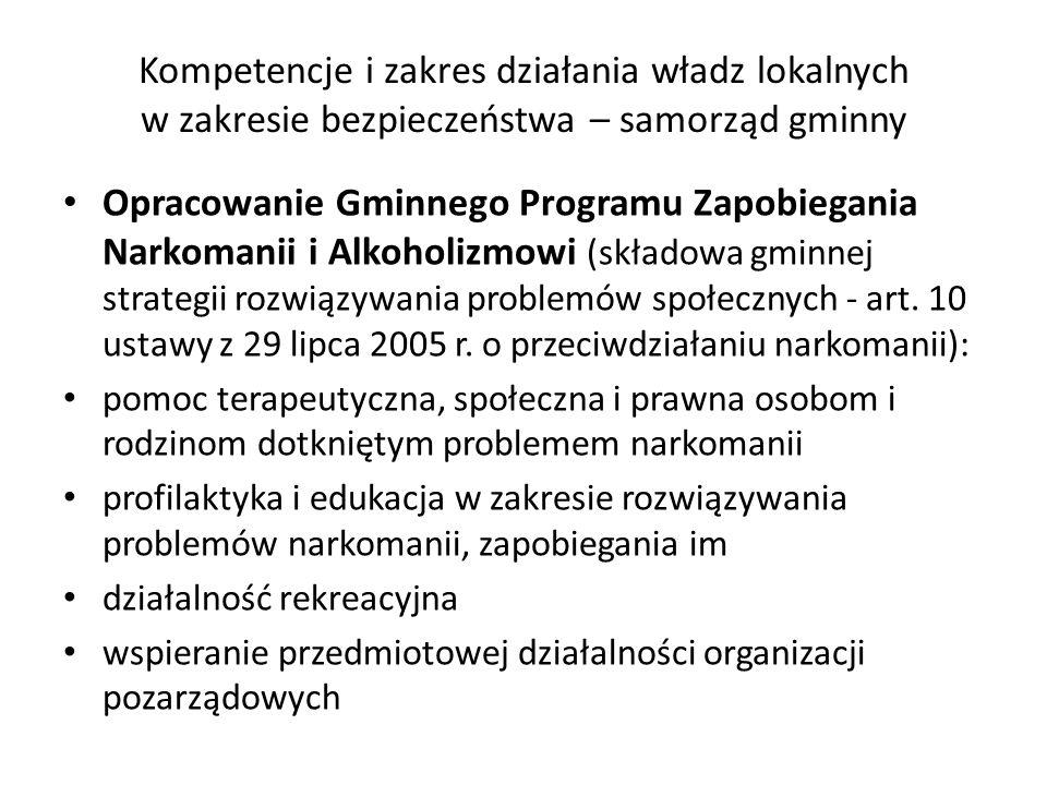 Kompetencje i zakres działania władz lokalnych w zakresie bezpieczeństwa – samorząd gminny