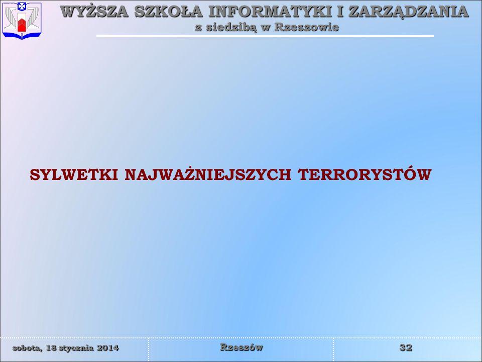 SYLWETKI NAJWAŻNIEJSZYCH TERRORYSTÓW