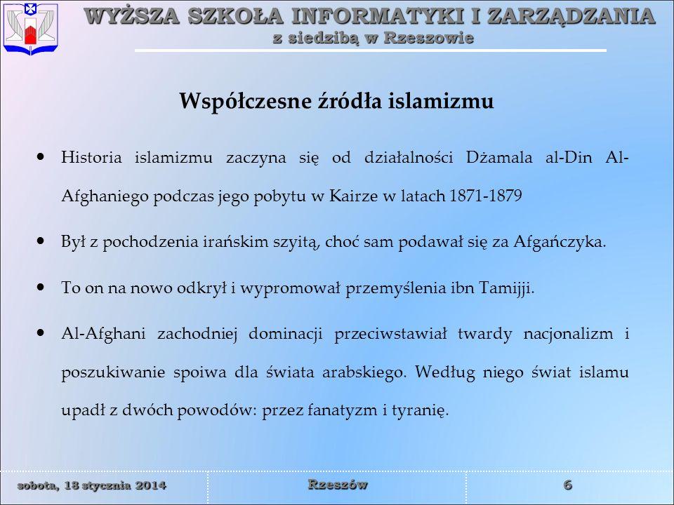 Współczesne źródła islamizmu