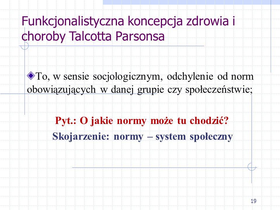 Skojarzenie: normy – system społeczny