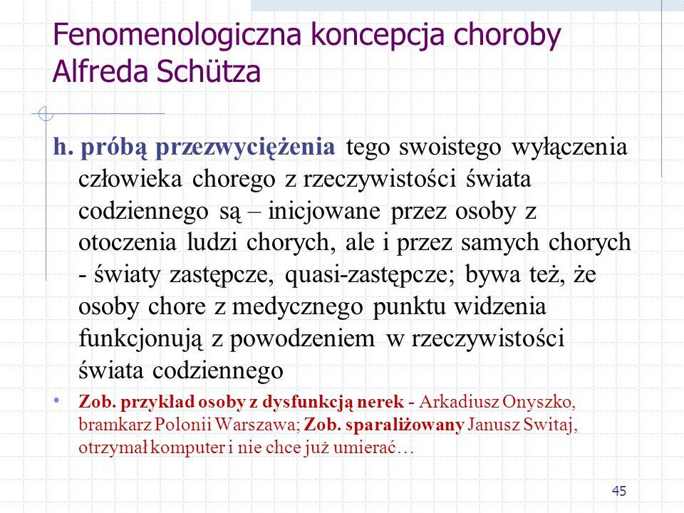 Fenomenologiczna koncepcja choroby Alfreda Schütza