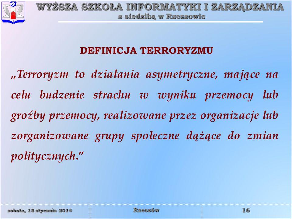 DEFINICJA TERRORYZMU