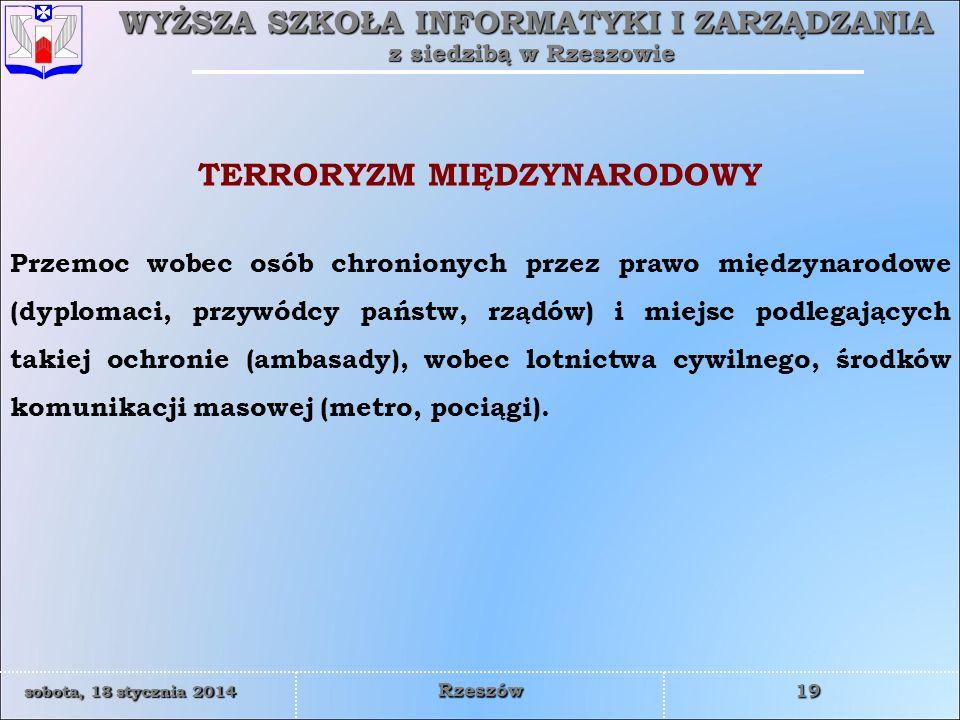 TERRORYZM MIĘDZYNARODOWY