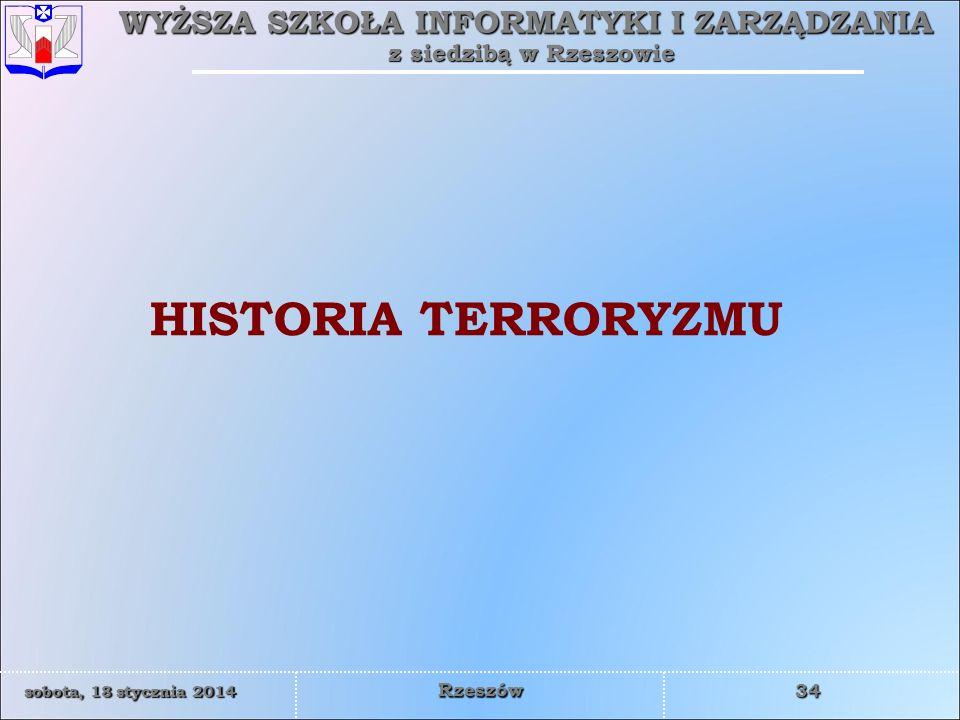 HISTORIA TERRORYZMU
