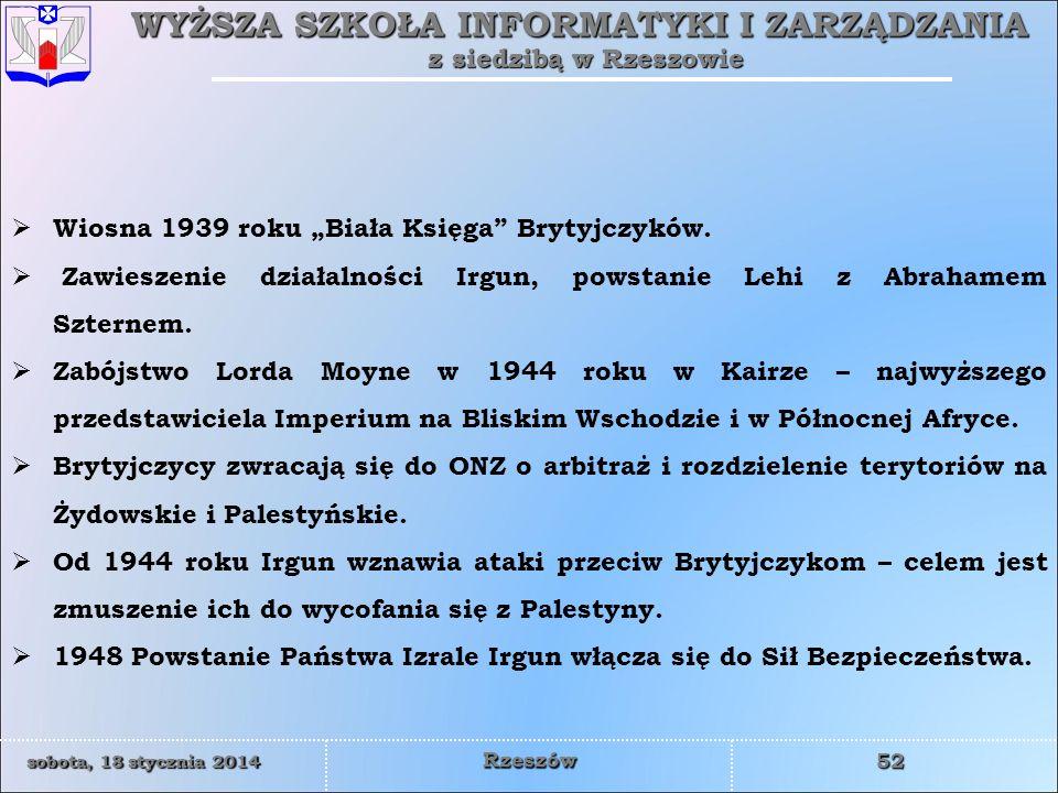 """Wiosna 1939 roku """"Biała Księga Brytyjczyków."""