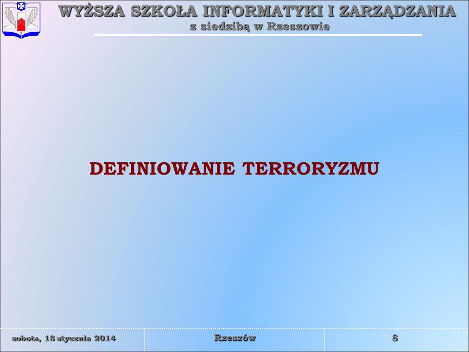 DEFINIOWANIE TERRORYZMU