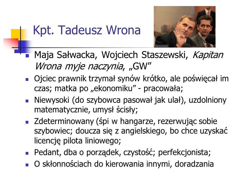 """Kpt. Tadeusz WronaMaja Sałwacka, Wojciech Staszewski, Kapitan Wrona myje naczynia, """"GW"""