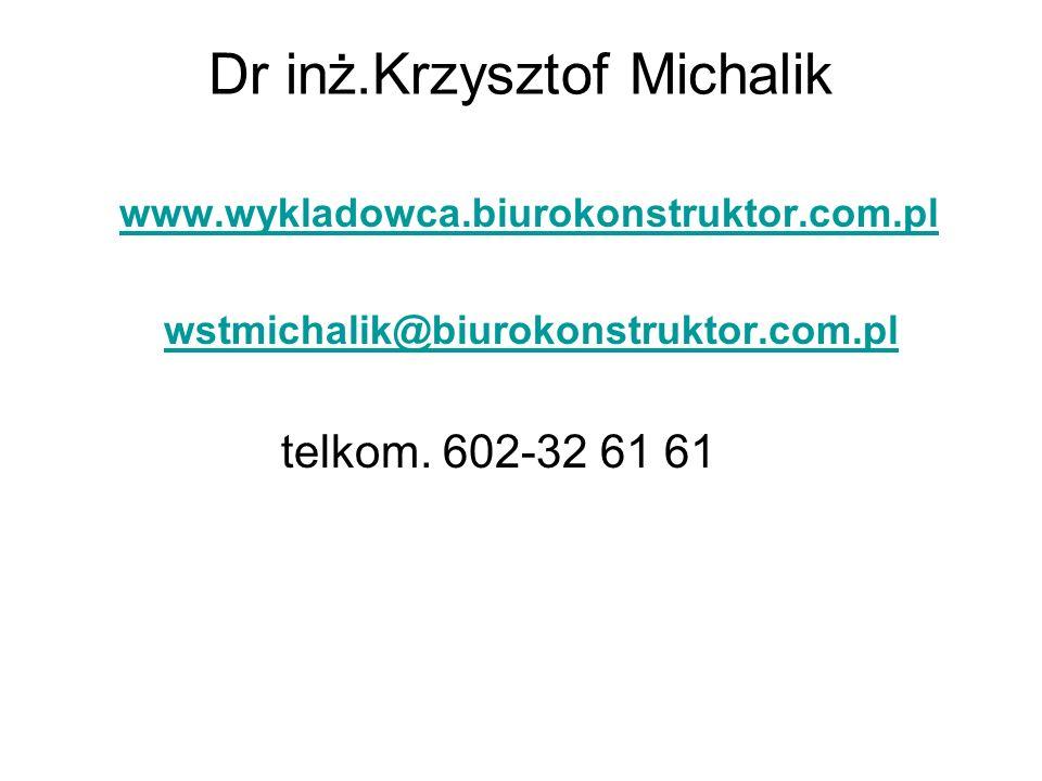 Dr inż.Krzysztof Michalik