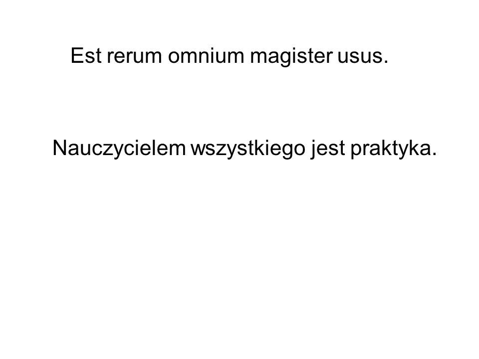 Est rerum omnium magister usus.