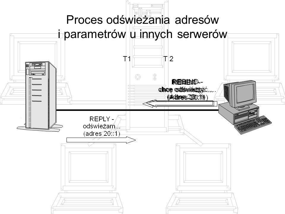 Proces odświeżania adresów i parametrów u innych serwerów