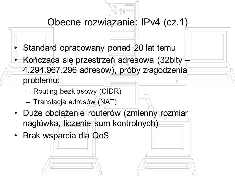 Obecne rozwiązanie: IPv4 (cz.1)