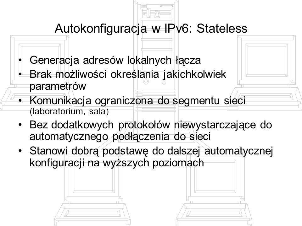 Autokonfiguracja w IPv6: Stateless