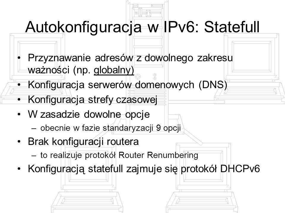Autokonfiguracja w IPv6: Statefull