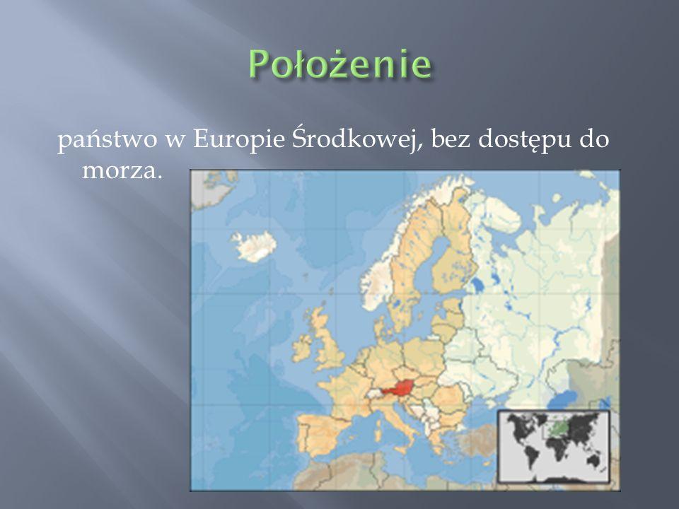 Położenie państwo w Europie Środkowej, bez dostępu do morza.