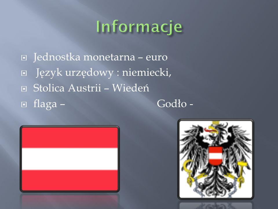 Informacje Jednostka monetarna – euro Język urzędowy : niemiecki,