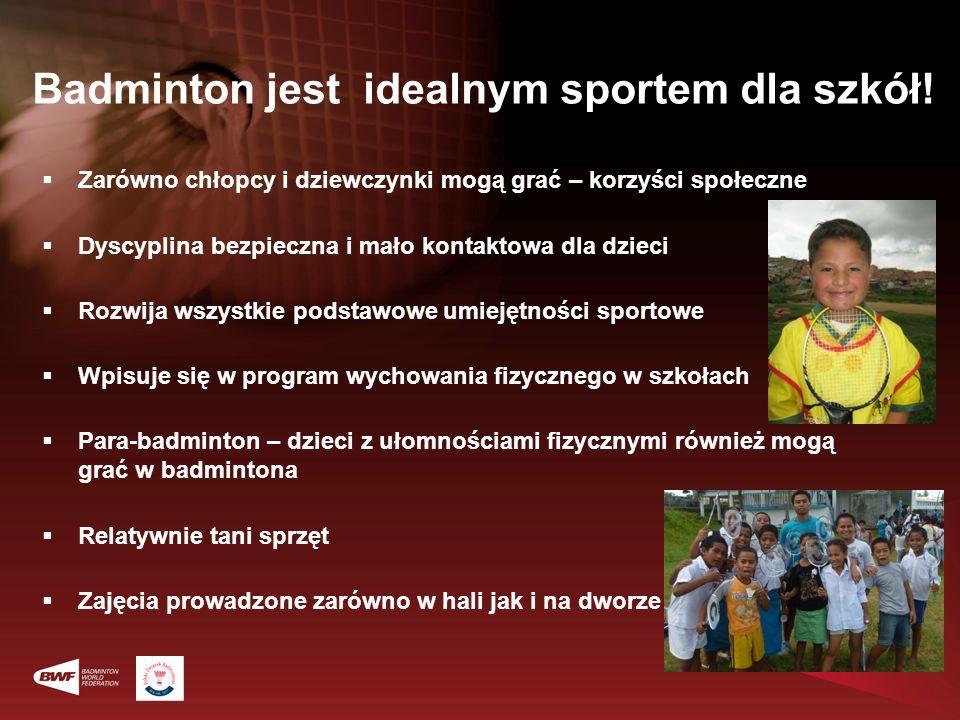 Badminton jest idealnym sportem dla szkół!