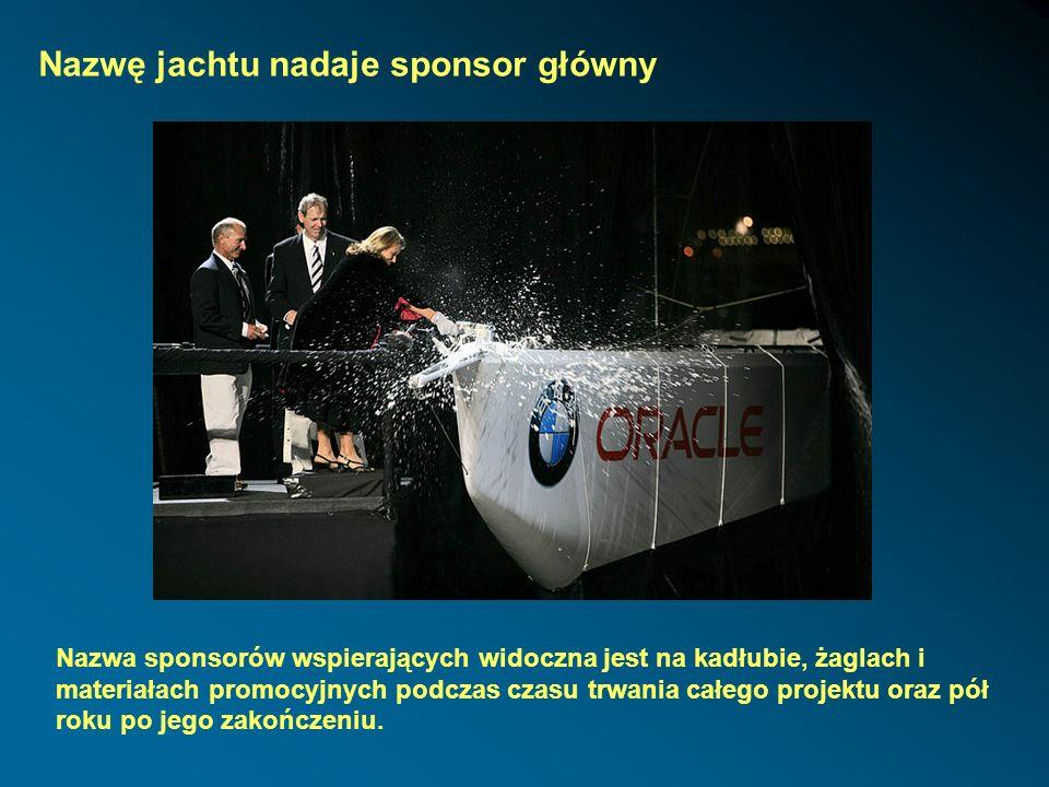 Nazwę jachtu nadaje sponsor główny
