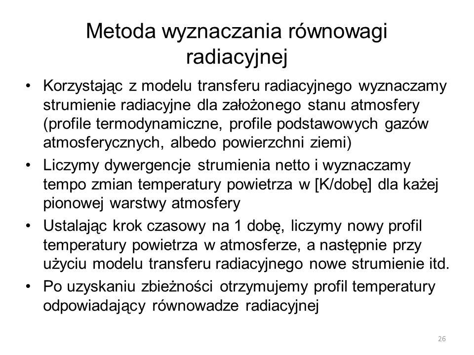 Metoda wyznaczania równowagi radiacyjnej