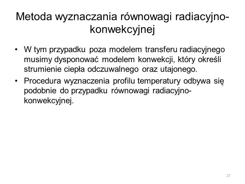 Metoda wyznaczania równowagi radiacyjno-konwekcyjnej