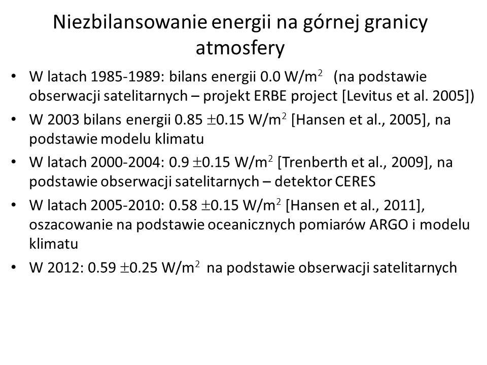 Niezbilansowanie energii na górnej granicy atmosfery