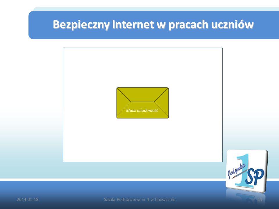 Bezpieczny Internet w pracach uczniów