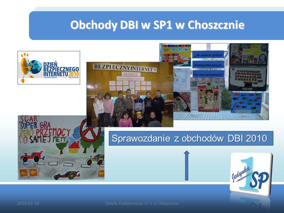 Obchody DBI w SP1 w Choszcznie
