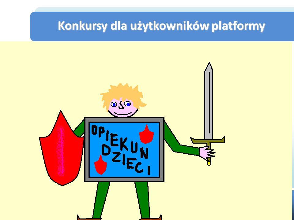 Konkursy dla użytkowników platformy