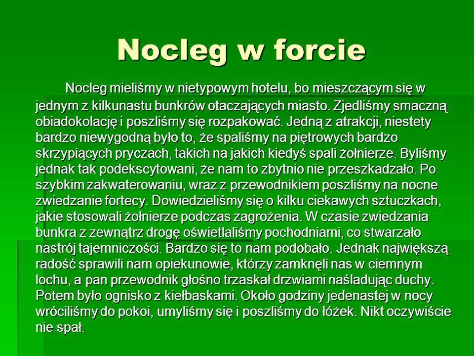 Nocleg w forcie