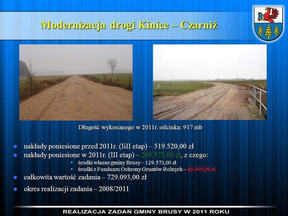 Modernizacja drogi Kinice – Czarniż