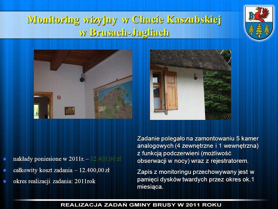 Monitoring wizyjny w Chacie Kaszubskiej w Brusach-Jagliach