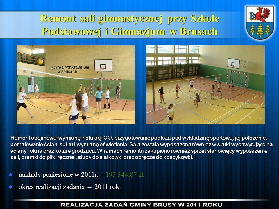 Remont sali gimnastycznej przy Szkole Podstawowej i Gimnazjum w Brusach
