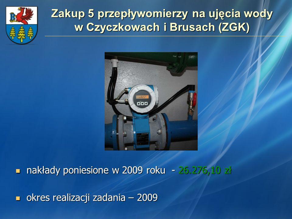 Zakup 5 przepływomierzy na ujęcia wody w Czyczkowach i Brusach (ZGK)