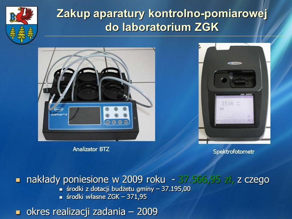 Zakup aparatury kontrolno-pomiarowej do laboratorium ZGK