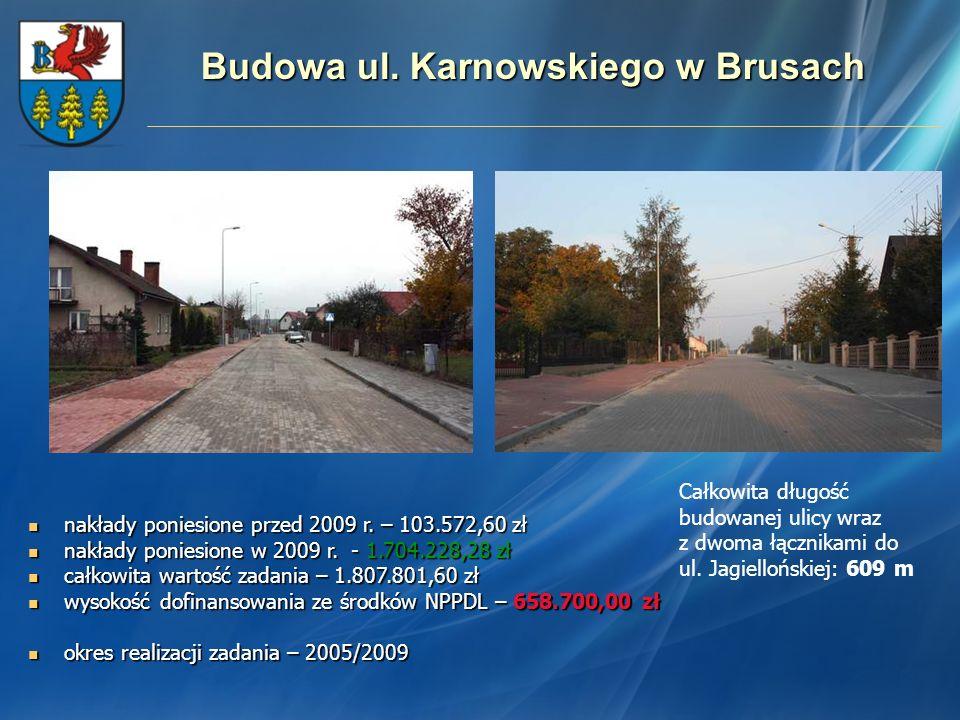 Budowa ul. Karnowskiego w Brusach