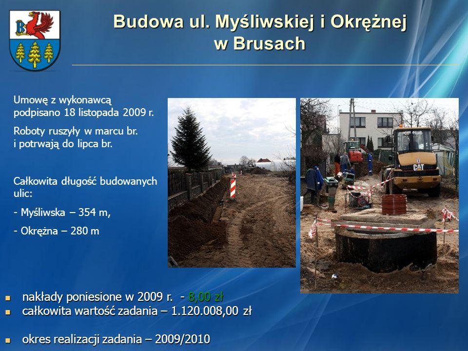 Budowa ul. Myśliwskiej i Okrężnej w Brusach